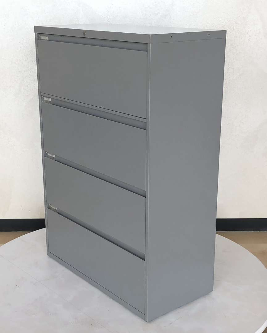 Steelcase Grey 4 Drawer Later File Cabinet Lock And Key